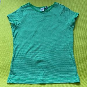 Striped green baby tee
